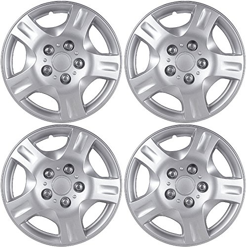 OxGord Hub-caps for 01-11 Hyundai Elantra (Pack of 4) Wheel Covers 15 inch Snap On ()