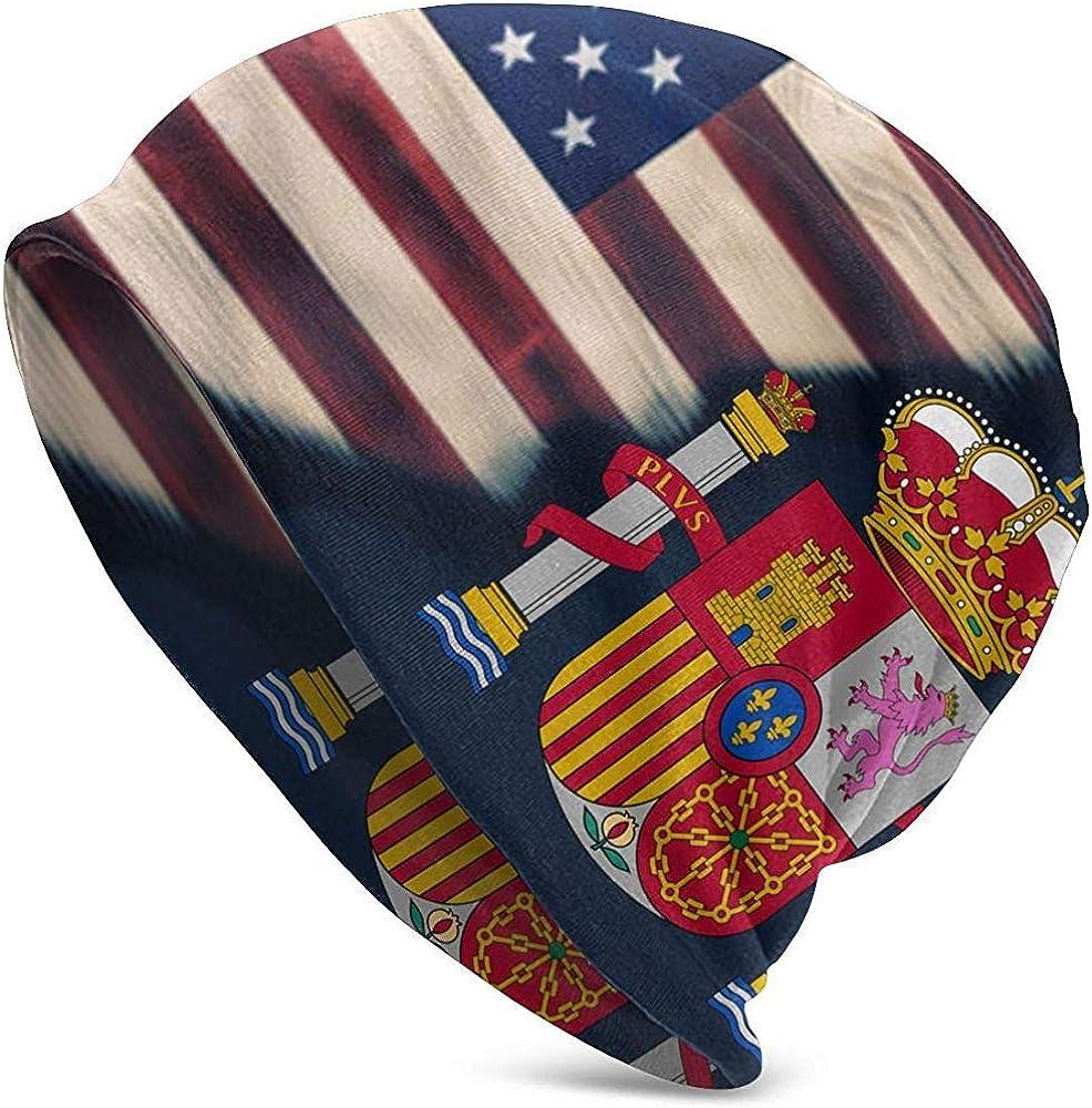 Maselia Gorras Gorras Bandera de EE. UU. Bandera de España Logotipo Cráneo Gorra: Amazon.es: Ropa y accesorios