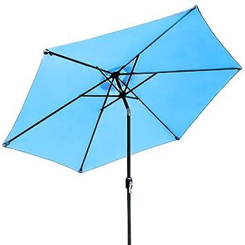 Sorbus Outdoor Umbrella, 10 Ft Patio Umbrella With Tilt Adjustment And Crank  Lift Handle,