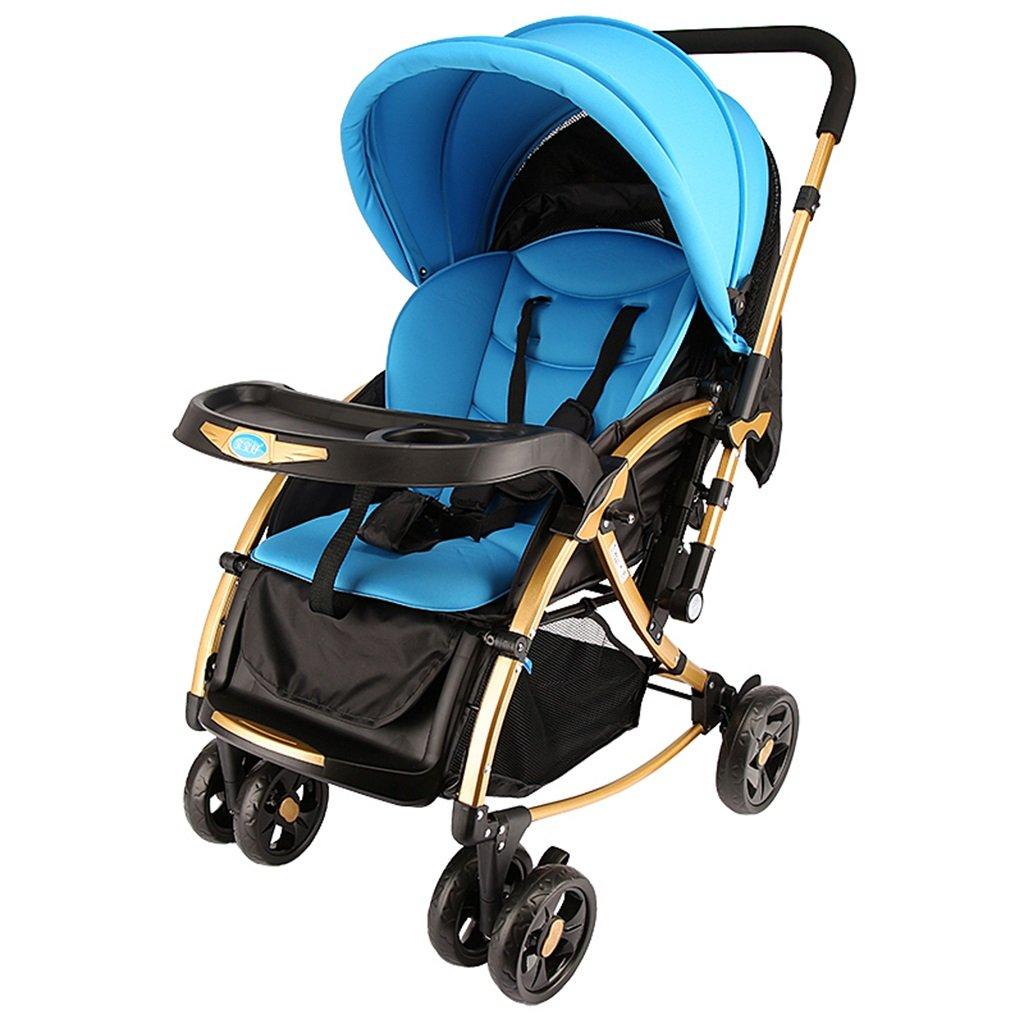 HAIZHEN マウンテンバイク ベビーカート多機能は折り畳み可能な2方向プッシュロッドを振ることができます/座って/シェード抗UV 5点のシートベルトを避けるショックベビーキャリッジ56 * 90 * 100センチメートル 新生児 B07DRXRKTX 1 1
