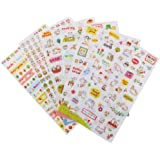 Generic PVC Transparent Diary Decor Planner Sticker - Set of 6