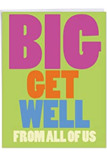 Get Well Soon Card With Envelope 85 X 11 Big