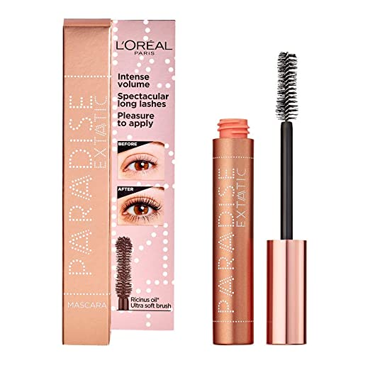 13f2be11d5d L'Oréal Paris Paradise, Intense Volume, Castor Oil-Enriched, Eyelash  Lengthening Mascara. Flake Free Formula. Soft Mascara Brush Included:  Amazon.co.uk: ...
