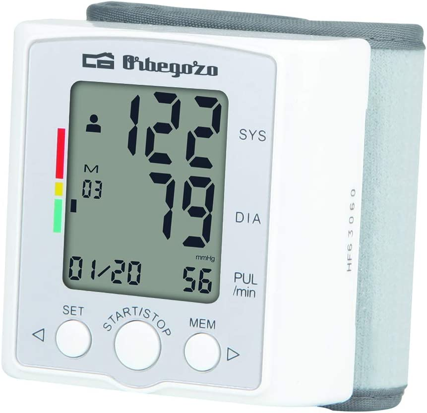 Orbegozo TES 3650 - Tensiómetro de muñeca, medición automática ...