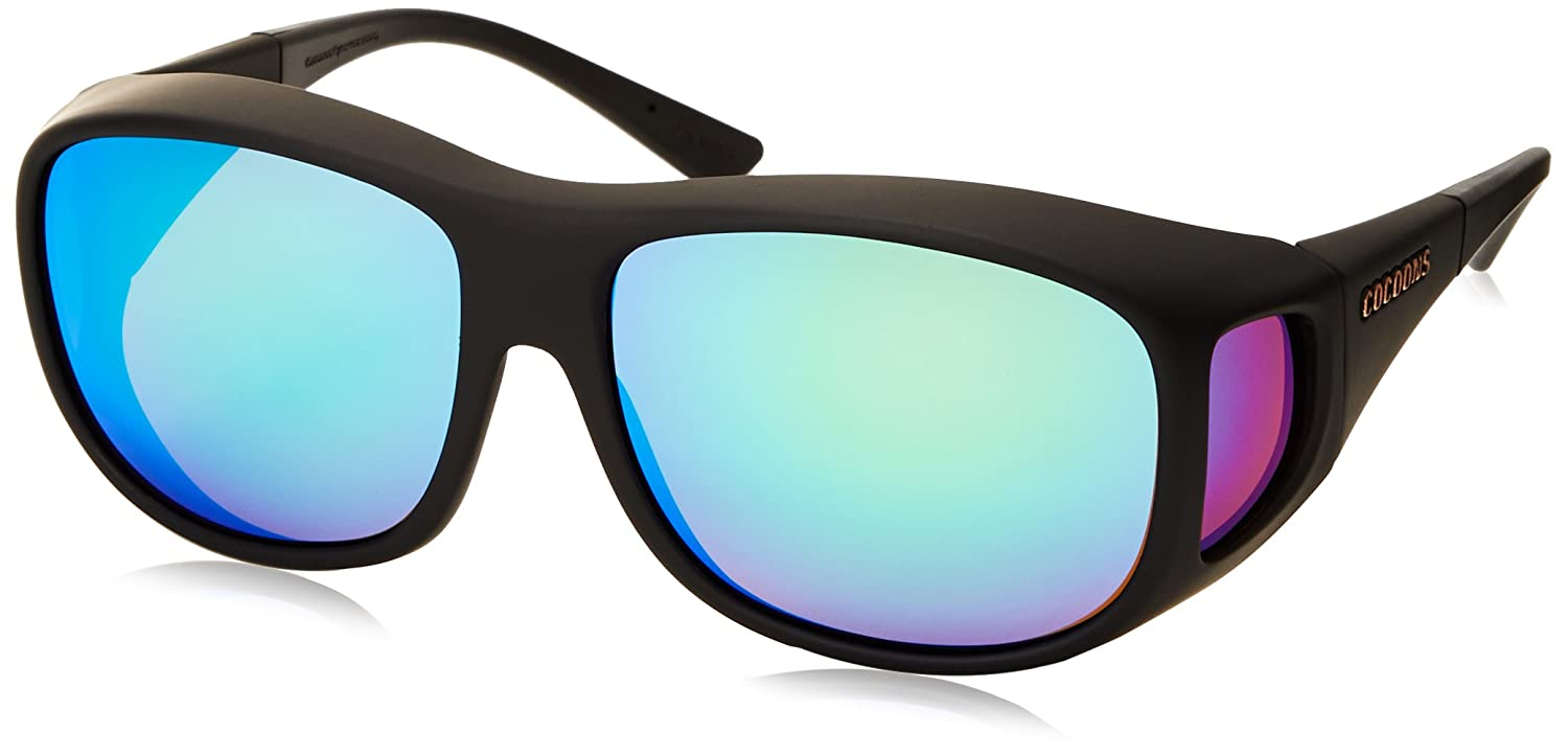 02e82a2967 Cocoons By Live Eyewear C302R L Black Polarized Green Mirror OveRx  Sunglasses  Amazon.co.uk  Clothing