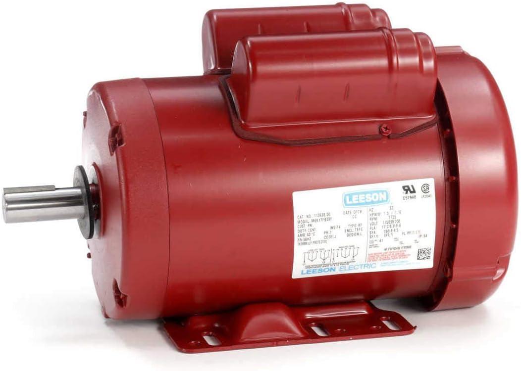 B0009WSRCW Leeson Electric 113938 1.5HP 1725rpm 56HZ Frame TEFC 115/208-230 volts Farm Duty Electric Motor 61GFeb8quPL.SL1280_