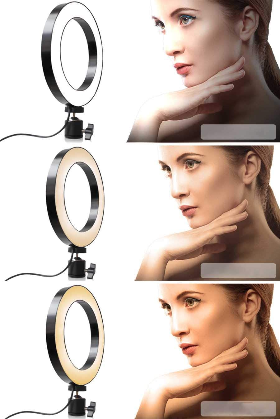 XYSQWZ LED Ring Light Dimmable 10-inch Ring Makeup Light with Tripod Stand Selfie Vlog Live Streaming YouTube Phone Video Shooting