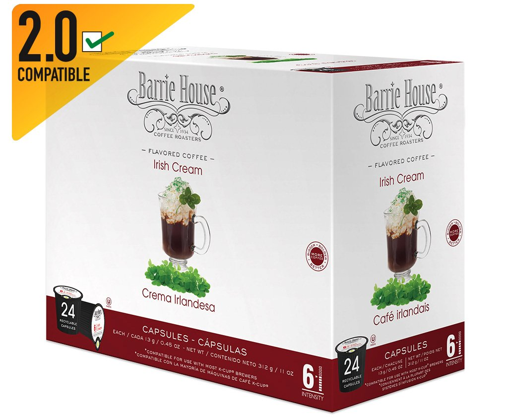 Barrie House Irish Cream Single Cup Capsule (96 Capsules): Amazon.com: Grocery & Gourmet Food