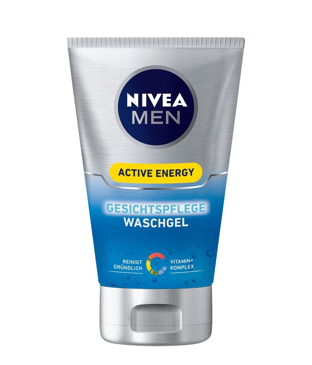 Nivea Men Active Energy Gesichtspflege Waschgel, 2er Pack (2 x 100 ml) 88885_1