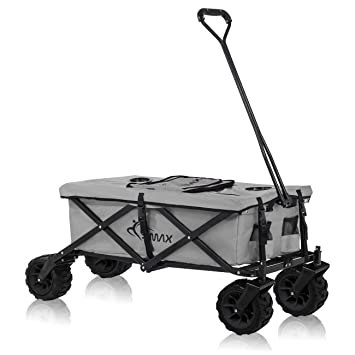 SAMAX Carrito de Off-Road Plegables Carros Playa de Carro Bolsa Nevera Carro de Mano Gris: Amazon.es: Hogar