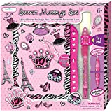 SmitCo LLC Journals For Girls, Secret Diary For Kids, With Blank Notebook, Passcode Lock And Invisible Ink Pen With Black Light Top To Keep Her Secrets Safe In a Diva Design, For Ages 6 And Over