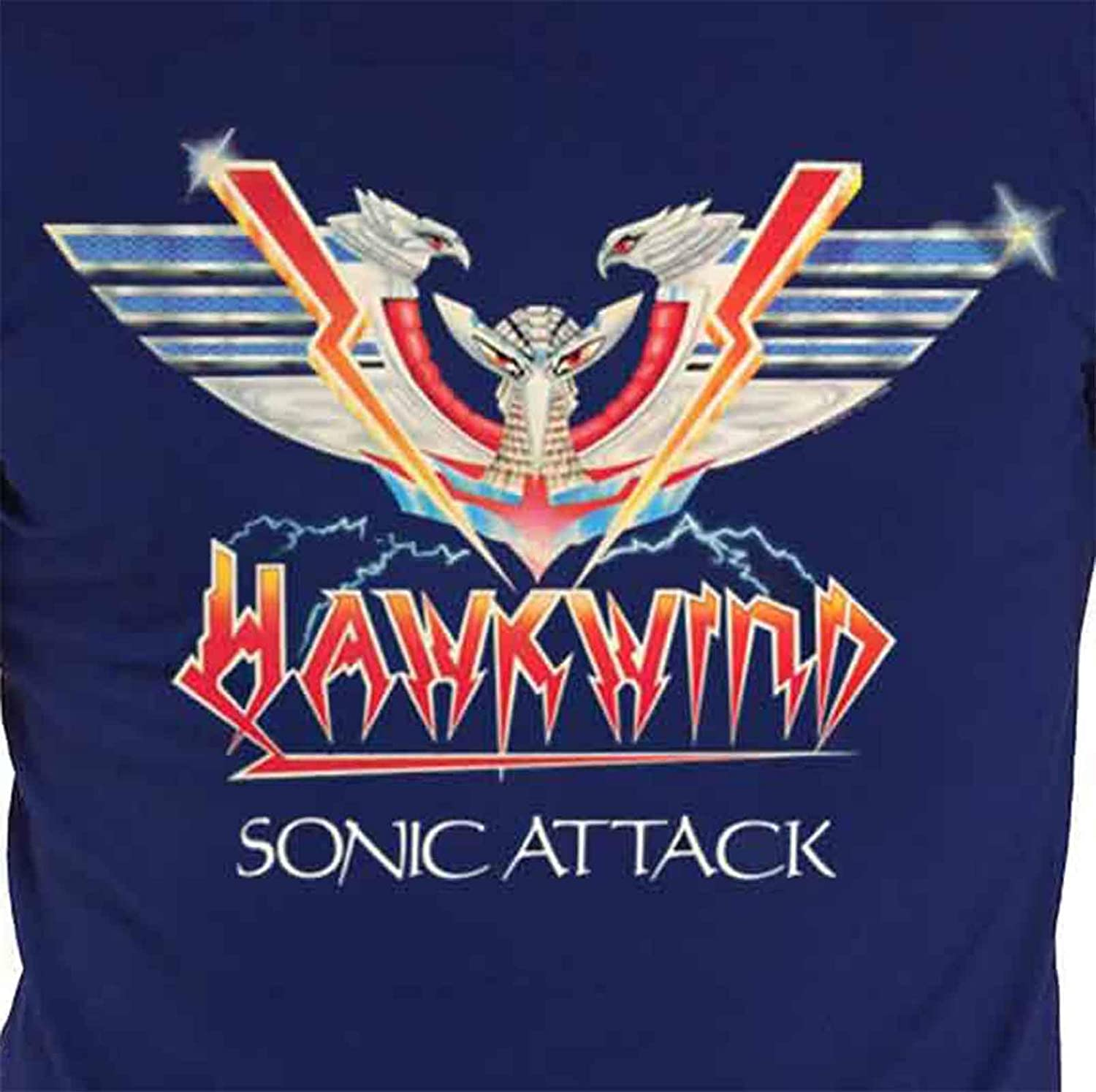T-Shirt Hawkwind /'Sonic Attack/' Navy NEW /& OFFICIAL!