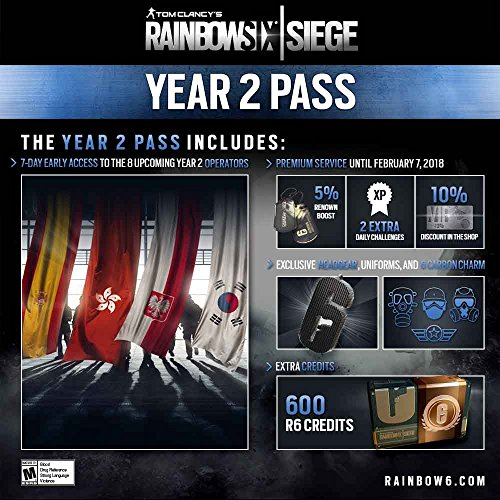 Amazon com: Tom Clancy's Rainbow Six Siege Year 2 Pass - PS4