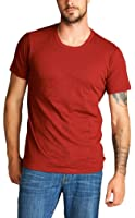 ToBeInStyle Men's Short Sleeve Crew Neck Slub Cotton T-Shirt