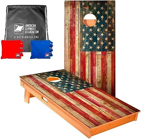 4 Glitter Fireworks and 4 USA Flags 8 ACA Regulation Cornhole Bags