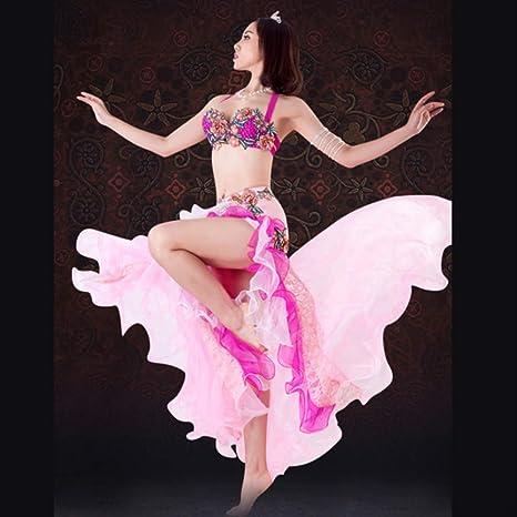 KLMWDDPWY Danza del Vientre Mujer Nuevo Rendimiento Ropa De Baile ...