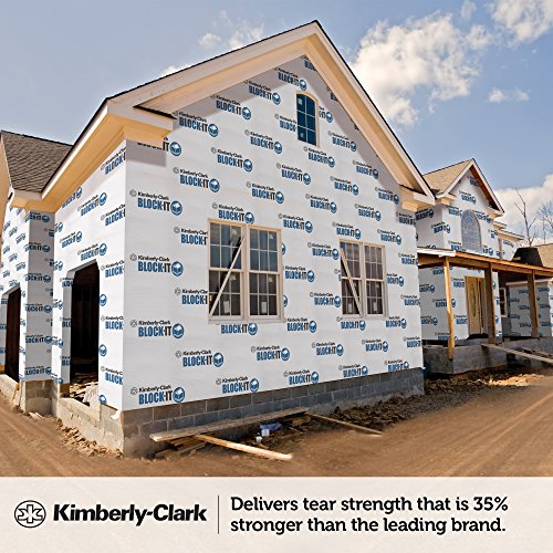 Kimberly clark 45431 block it house wrap breathable for House wrap prices