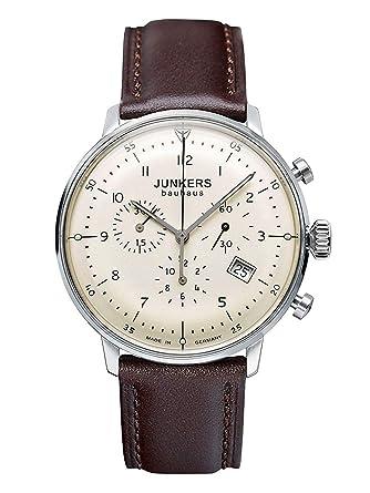Junkers 6086-5, Reloj Analógico De Cuarzo para Hombre con Correa de Piel: Amazon.es: Relojes