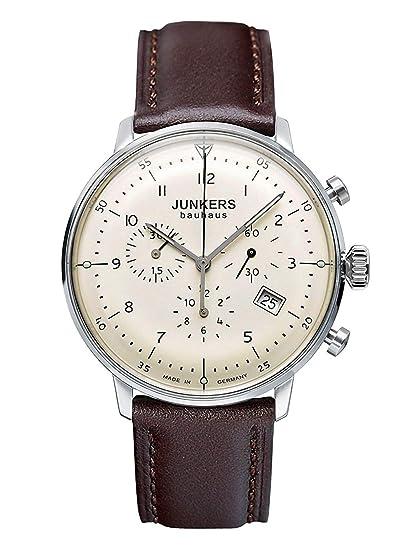 Junkers 6086-5, Reloj Analógico De Cuarzo para Hombre con Correa de Piel: Junkers: Amazon.es: Relojes