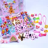 Ocamo Girls Colorful Large 24 Grids Beads Kit Educational Toys Jewellery Hair Accessories for DIY Making