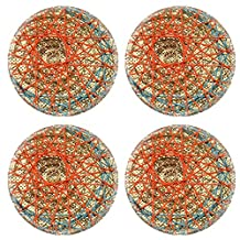 MSD Round Coasters IMAGE 34859091 Rope woven on bamboo woven