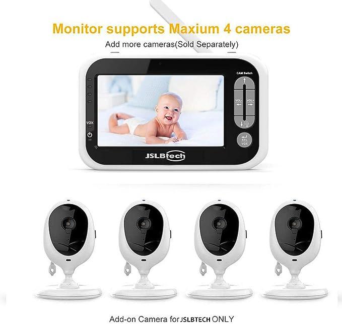 Visi/ón Nocturna Charla Bidireccional con C/ámara y Audio Vigilabeb/és,Camara Vigilancia Bebe 4.3 con Monitor de Temperatura Vigilabeb/és Inalambrico Beb/é Monitor Inteligente