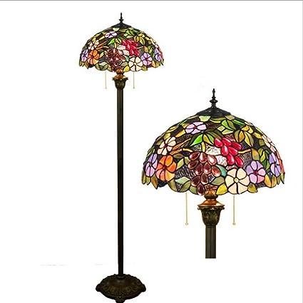 GAOLIQIN Tiffany Style Luces de Piso 16 Pulgadas vidrieras ...