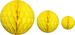 product image for Yellow Honeycomb Balls, Set of 3 (12 inch, 8 inch, 5 inch)