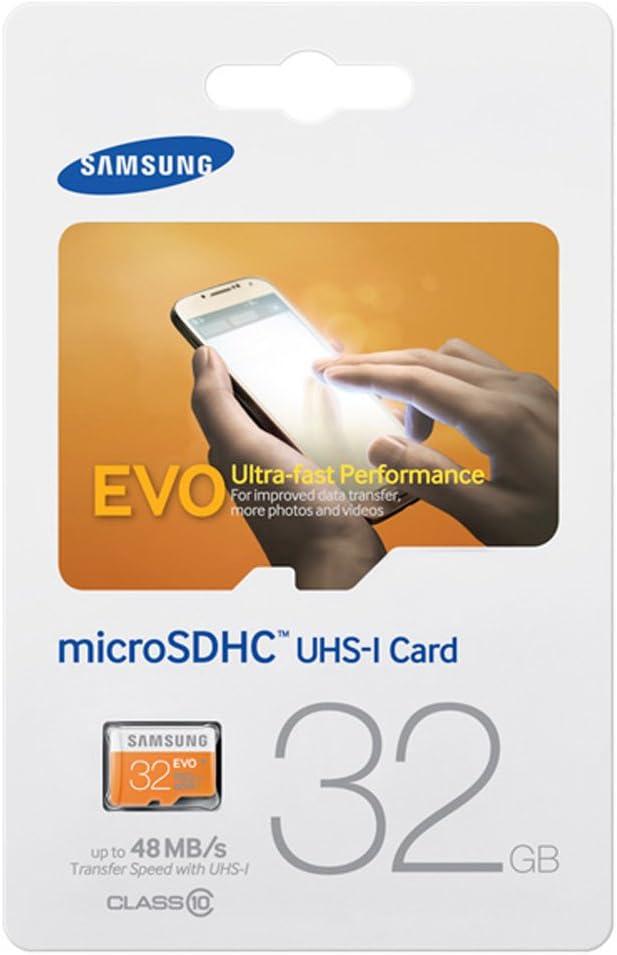 Samsung 32GB EVO Micro SDHC UHS-I Upto 48MB/s Class 10 Memory Card (MB-MP32D)