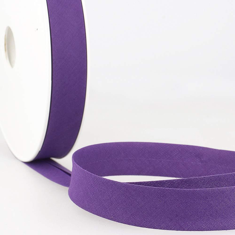 Stephanoise Plain Bias Binding 20mm Wide Per Metre Dark Purple