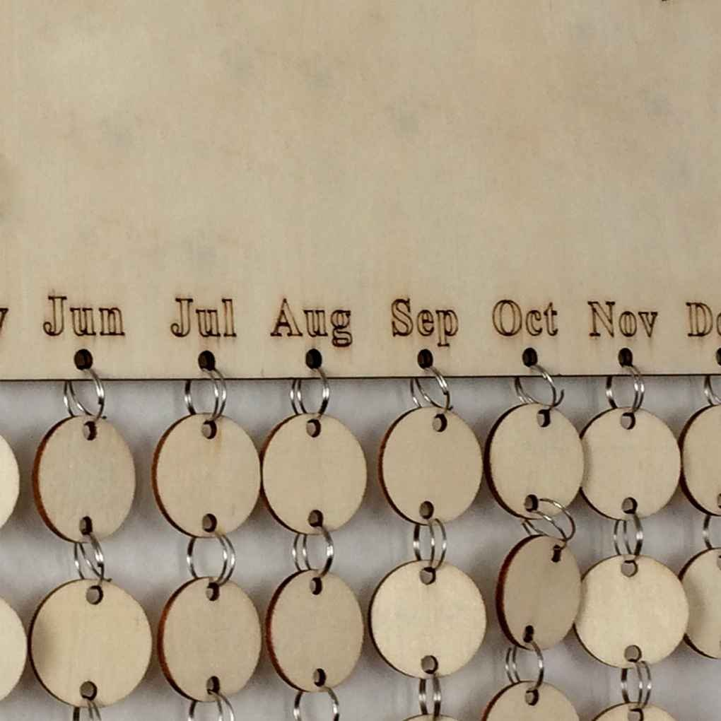 Cocoray Hanging DIY Wooden Blank Calendar Kalendar Reminder Board Plaque Sign House Decoration Pendant Tag by Cocoray (Image #3)