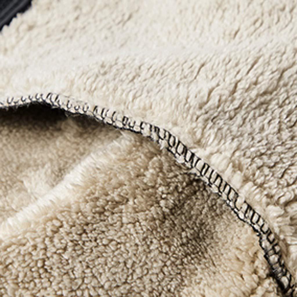 Chic Giacca in Vello Uomo Giacca Softshell con Cappuccio Zip Cappotto Taglie Forti 8XL Invernali Termica Fodera in Lana Giacche