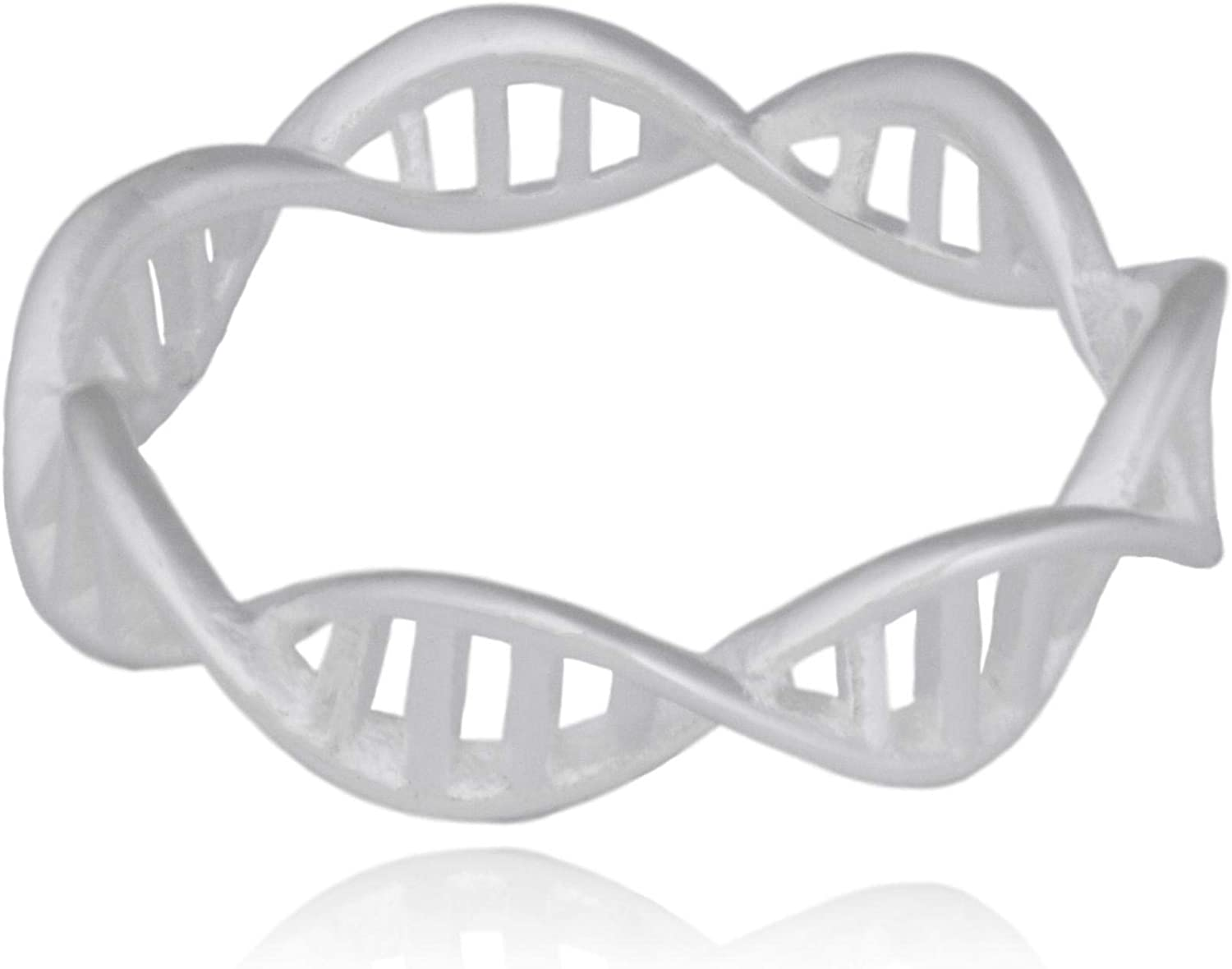 Clayton Jewelry Labs DNA Double Helix DeoxyriboNucleic Acid Science Stainless Steel Ring