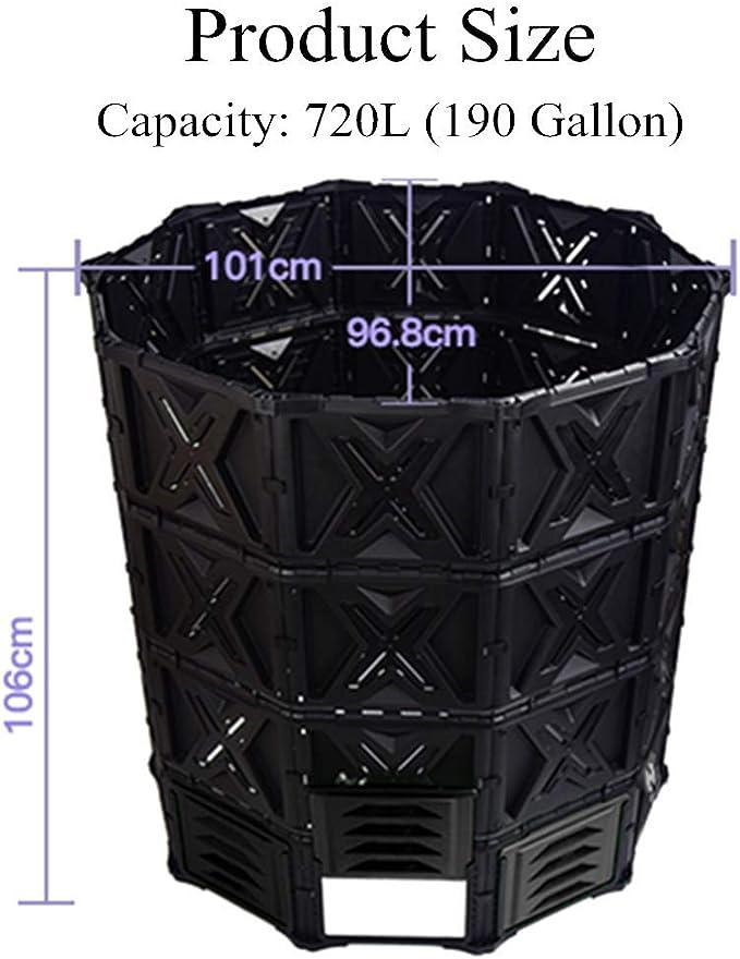 avec Plastique /Écologique heathly Seau /À Compost Poubelle Portable Cr/éative 240x195x215//360 Mm adfafw Bac /À Compost Bio Plastique Vert Poubelle De M/énage