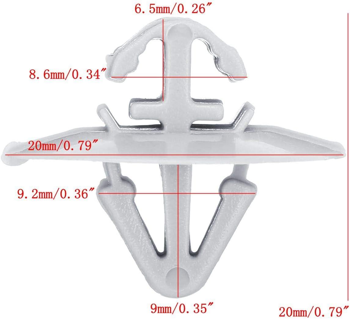 Viviance 100 St/ück T/ürtrimm-Befestigungs Clip-Halter-Halterung Sto/ßstange f/ür Renau-lt trafic Master Kangoo Iveco Daily Nissan Primastar Opel Vivaro