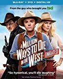 A Million Ways to Die in the West (Unrated Blu-ray + DVD + DIGITAL HD)
