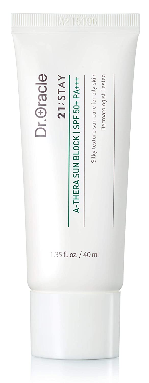 Dr.oracle 21;stay A-thera Sun Block SPF 50+ Pa+++ Face Spf Moisturizer, Face Sunscreen For Sensitive Skin (1.35 O.z), Dermatologist Tested