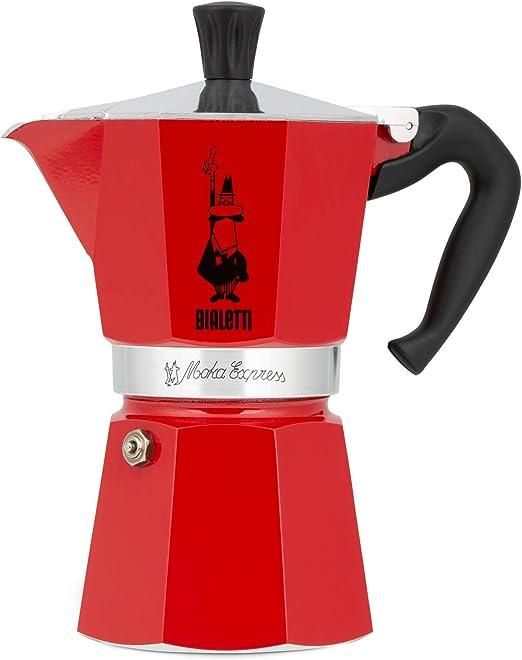 Bialetti Moka Express Cafetera Italiana Espresso, Aluminio, Rojo ...