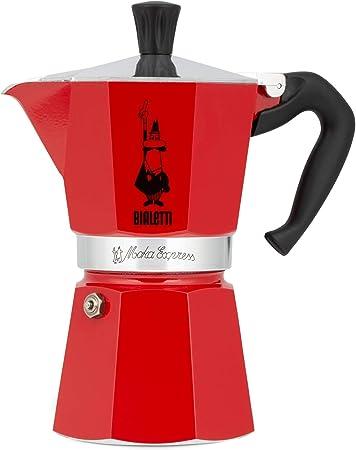 Bialetti Moka Express Red Cafetera Italiana Espresso, 6 Tazas ...