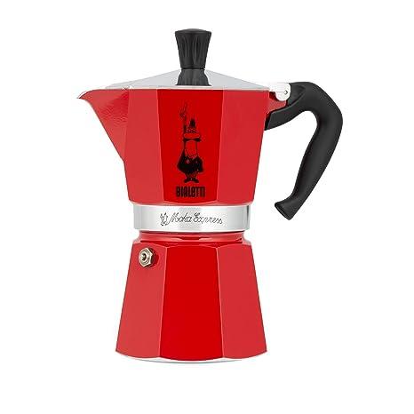 Bialetti 6633 6 Cup Moka Stovetop Espresso Maker, Red