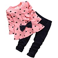 Baby Girls Infant Clothing Set Long Sleeve T Shirt Pants Kids Toddler Children Tops...