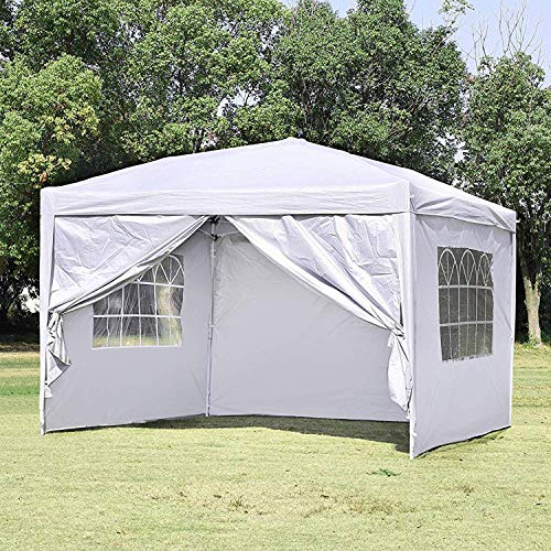 CharaVector 10 x 10 ft Heavy Duty Ez Pop Up Gazebo Canopy Tent for Outdoor Waterproof Party Wedd ...