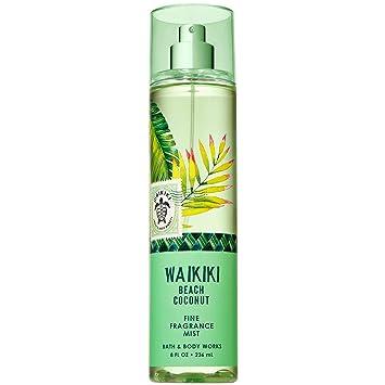 Bath And Body Works Waikiki Beach Coconut Fine Fragrance Mist 8 Fluid Ounce 2019 Edition