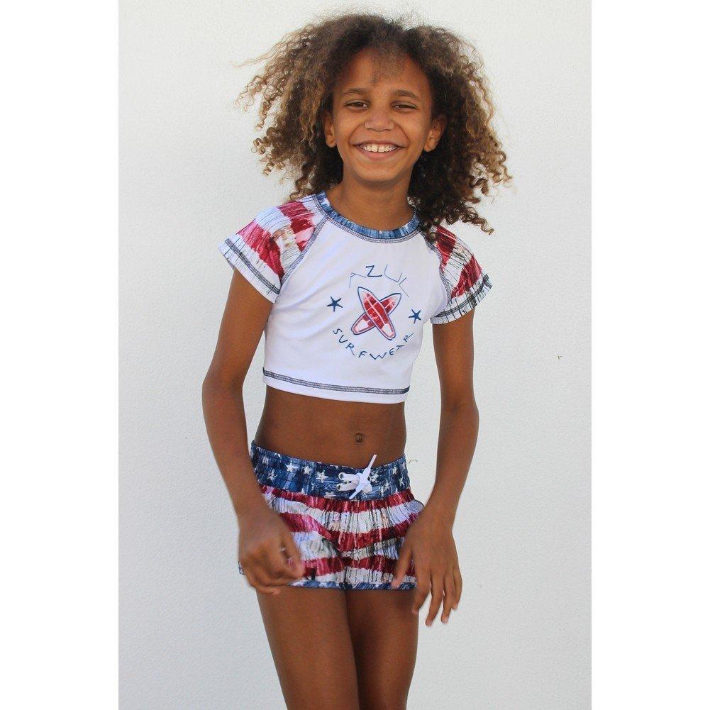 Azul Vintage Americana Girls Swim Shorts