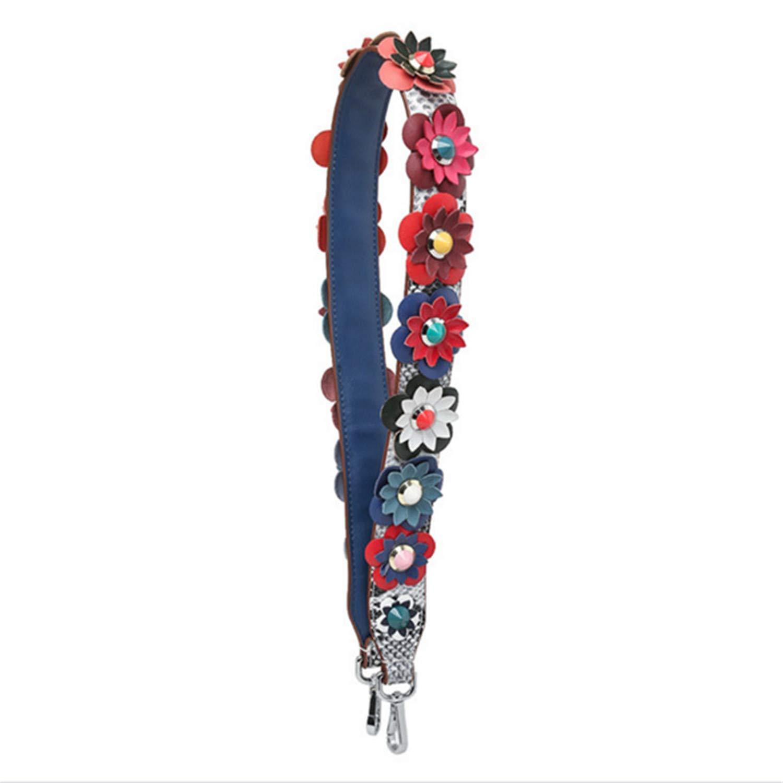 Zesoma Handbag Strap Colorful Flower Strap Bag Accessories Fashion Strap Belts Bag Women Shoulder Straps