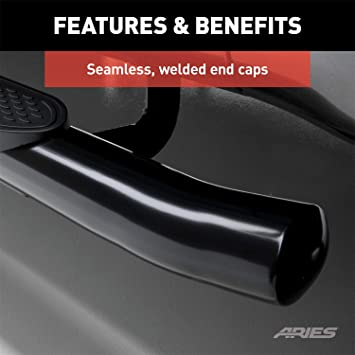 """Aries S222009 Black 4/"""" Oval Cab Length Side Bars for Toyota Tacoma Double Cab"""