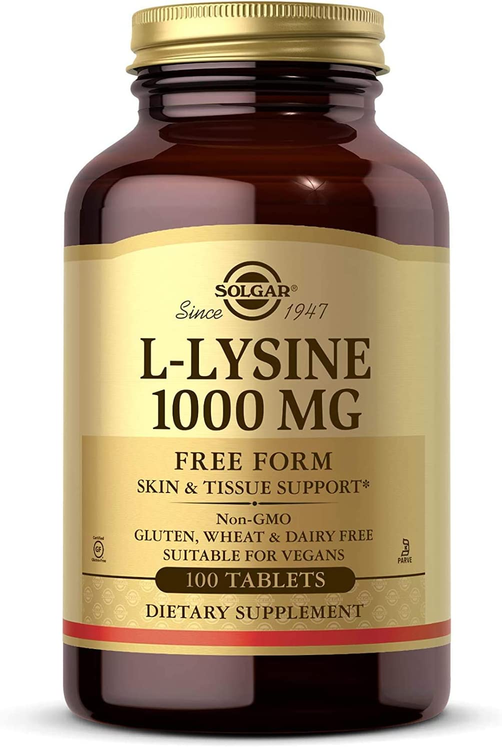 Solgar L-Lysine 1000 mg, 100 Tablets: Health & Personal Care