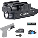 Olight Pl Mini Valkyrie Led 400 Lumen Rechargeable Compact Pistol Light, Magnetic Usb Rechargeable Weaponlight, Quick Release Mount for Glock, Springfield, Sig Sauer with Olight Patch