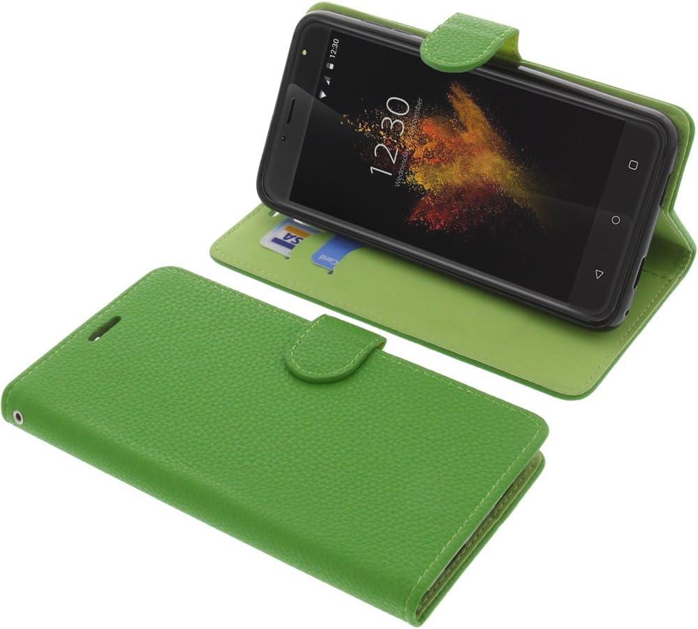 foto-kontor Funda para Wieppo S6 Lite Estilo Libro Verde ...