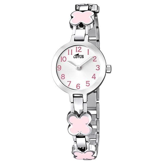 b167c4d69426 Lotus Reloj Analógico para Niñas de Cuarzo con Correa en Acero Inoxidable  15828 2  Amazon.es  Relojes